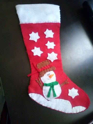 Bota navideña motivos mono de nieve