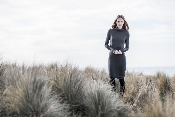 The new Untouched World Winter '16 Pep Sweater Dress. Understated, sustainable, stylish and cosy in machine washable Merino.