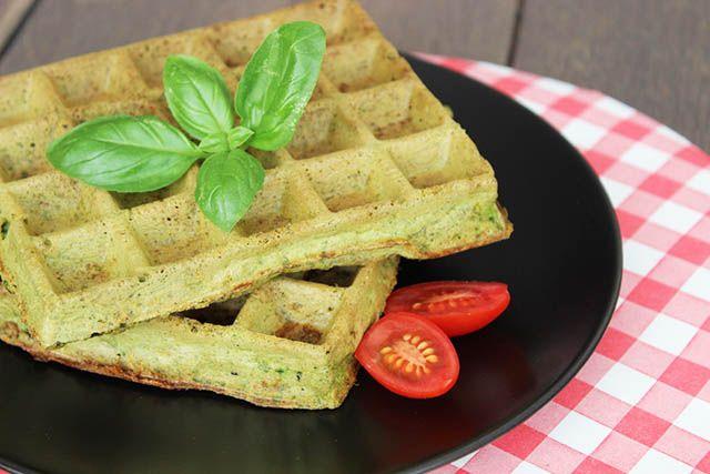 gezonde glutenvrije wafels recept, pesto wafels, recept wafels gezond zonder zuiker