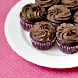 Double Chocolate Cupcakes - twice the chocolate, twice as  nice.