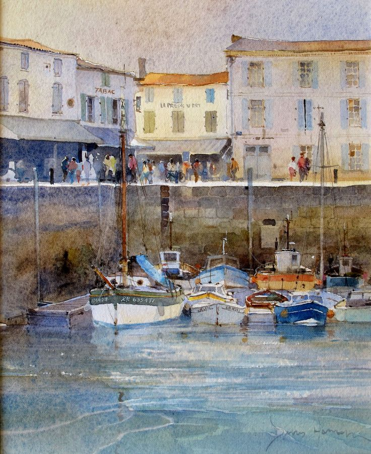 The Harbour at La Flotte, Ile de Re by David Howell