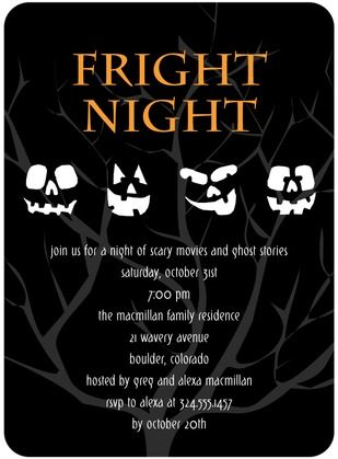 best halloween party invitations images th  glowing faces halloween invitations