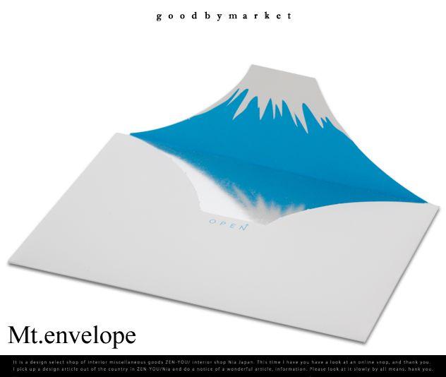 【楽天市場】Mt.envelope / マウントエンベロープ goodbymarket / グッバイマーケット 富士山 富士 引き出物 結婚祝い 逆さ富士 手紙 封筒 ふじ フジ:interiorzakka ZEN-YOU