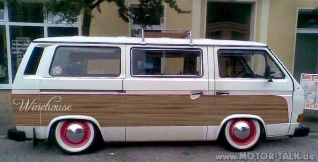 Stanced retro look bus