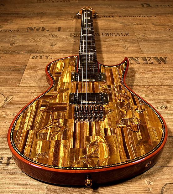 IMAGINE: You could be the first lucky devil in the whole world who owns   and plays a Zerberus-Guitars Chronos with real Tiger´s Eye Gemstone top.Maybe later there might be some more Chronos with Tiger´s Eye top, but you have serial number #001. No one can take this from you.If   you need versatility - if you love sustain - if you are into guitars   that have character - if you love to play a guitar that you won´t find   at every corner - you really should take a closer look :)Fresh   from…