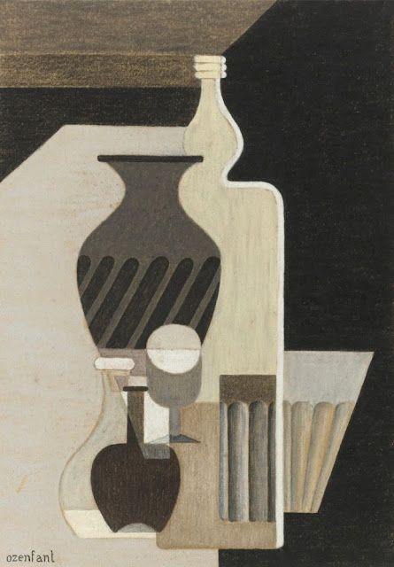 Amédée Ozenfant, Still Life with Bottles, c. 1924.