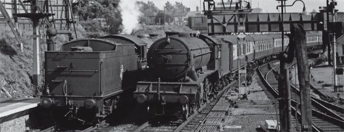 Ex-LNER Gresley K3 2-6-0 No. 61890 a Bishops Stortford in June 1957. This loco met its end at Cashmore, Great Bridge, not at Central Wagon Co, of Ince. S. CREER/ TRANSPORTTREASURY.CO.UK