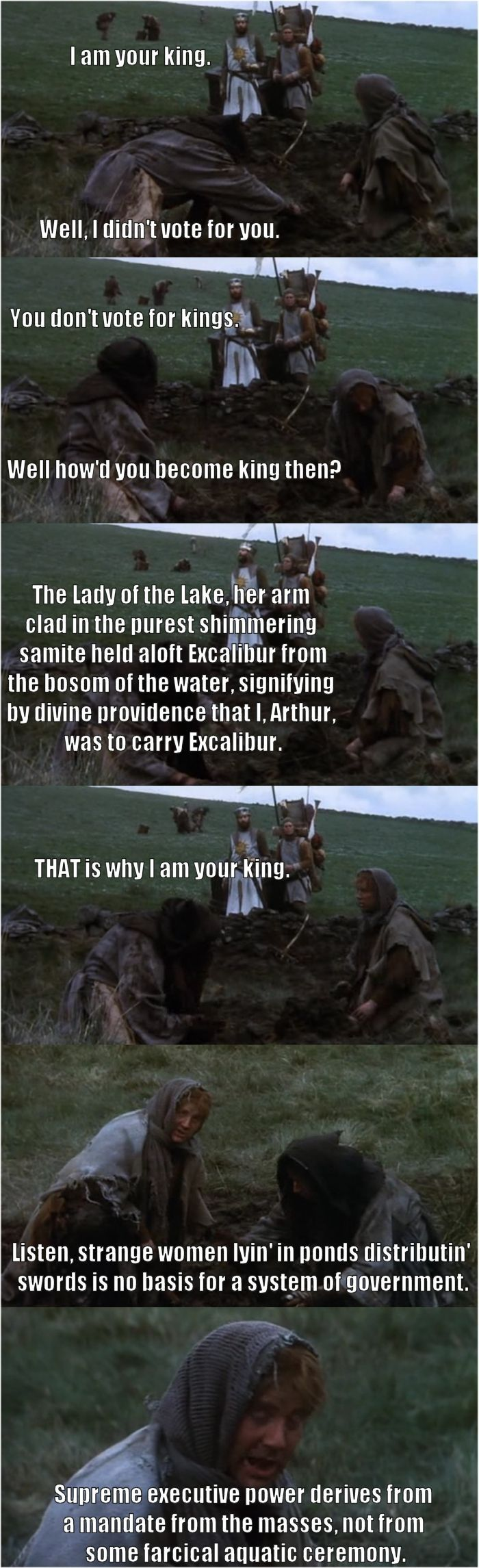 Peasants -- Monty Python and the Holy Grail humor