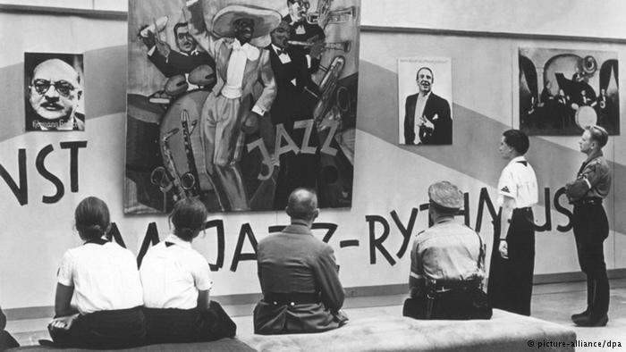 """Verbotene Klänge im NS-Staat  Unter dem Titel """"Entartete Musik"""" wurde am 24. Mai 1938 in Düsseldorf eine Ausstellung eröffnet: Die Agitation der NS-Kulturpolitiker richtete sich gegen jede Musik, die nicht in ihr weltanschauliches Konzept passte."""