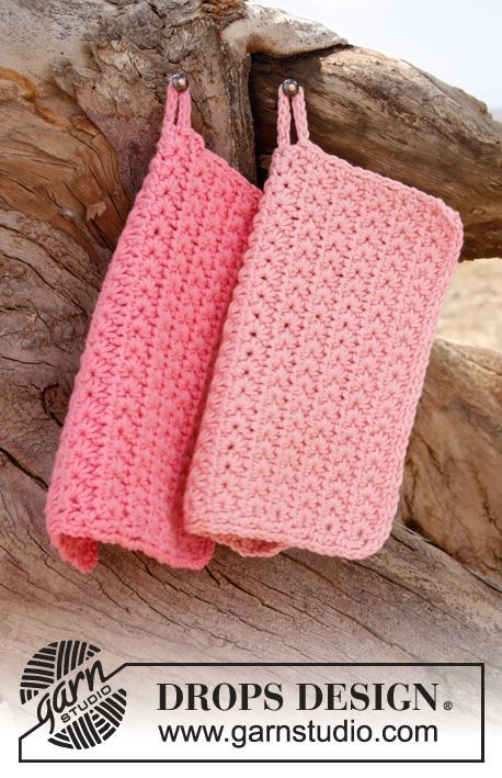 Stars – Crochet DROPS Potholders with Star …