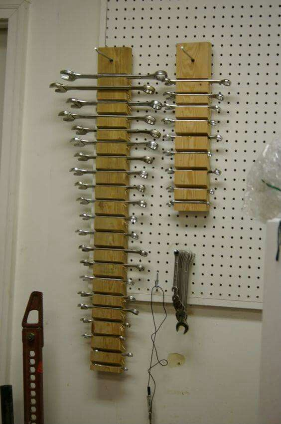 Vertical Wrench Storage