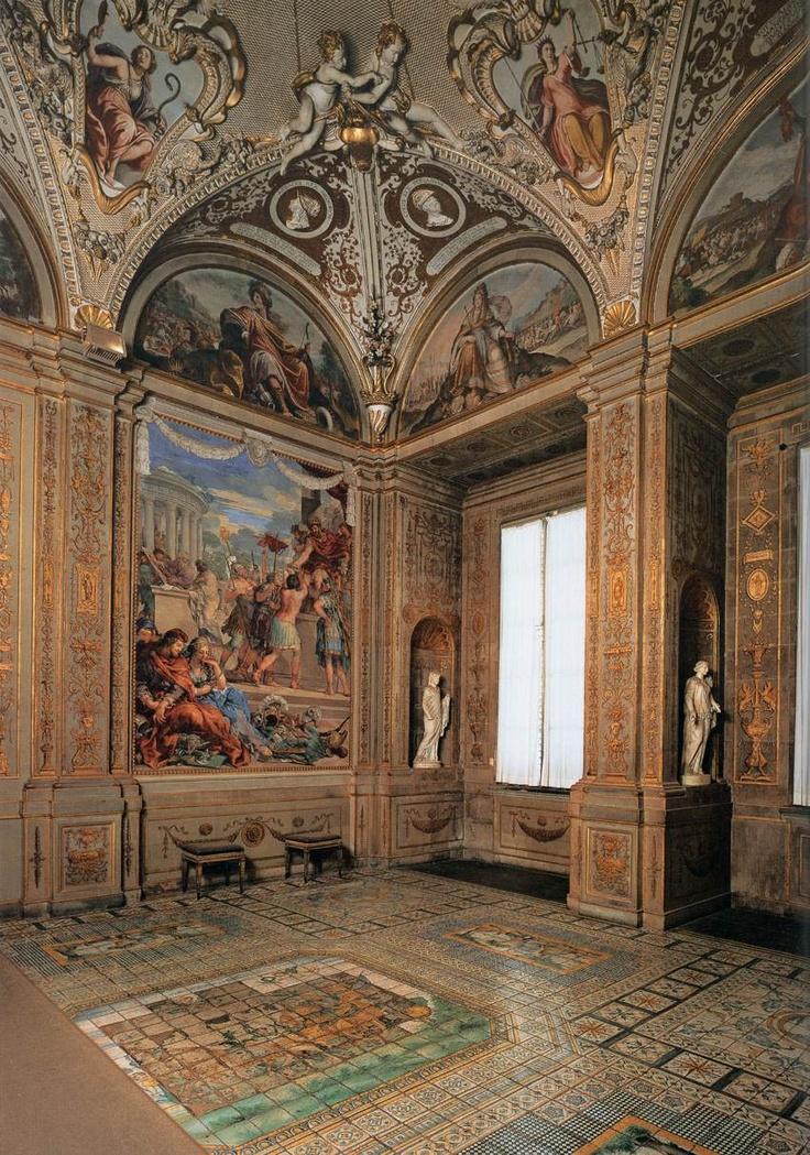 Pietro da Cortona - Sala della Stufa - 1637-41 - affrescchi - Galleria Palatina di Palazzo Pitti, Firenze.