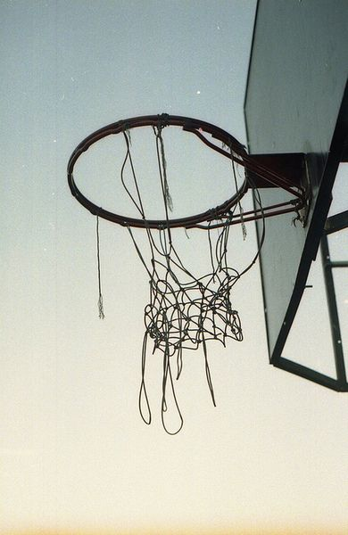When your net is broken... You know you have done well at practice