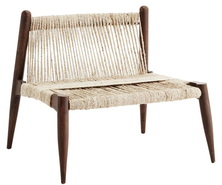 The Chair Is Made From A Solid Wooden Frame And The Seat Is Made From Woven  Jute.