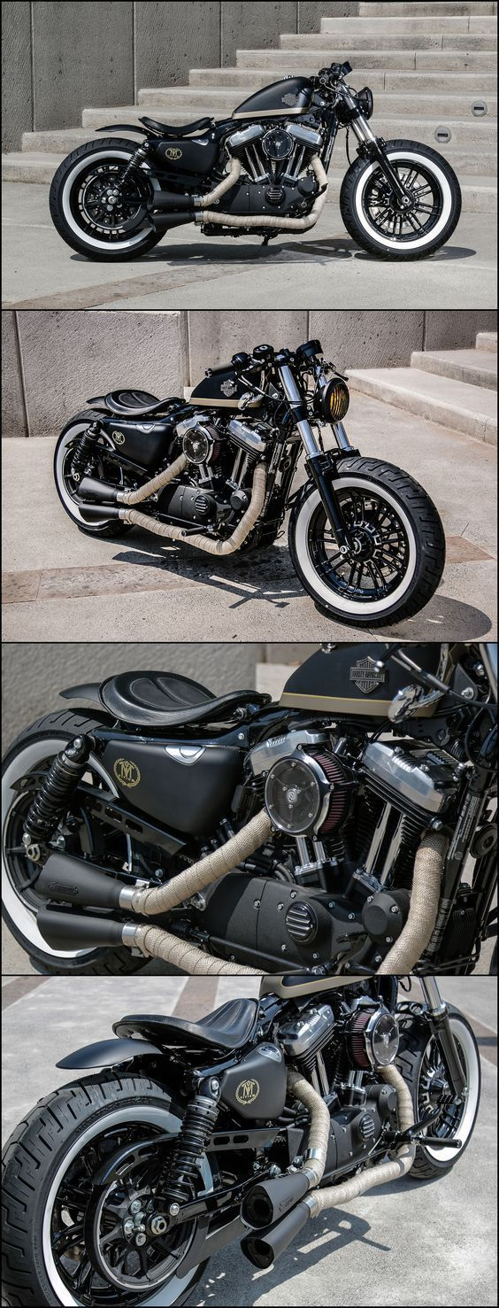aftercycles | harley-davidson sportster forty-eight | custom bobber #harleydavidsonbobberscaferacers
