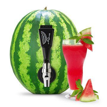 Fruit Keg Tapping Kit: Watermelon + Vodka = deliciousness! #cocktailgifts