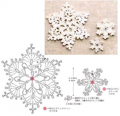 Crochet Snowflakes diagrams @Lisa Phillips-Barton Phillips-Barton a Farme / Anne Bemis  have you made snowflakes yet?