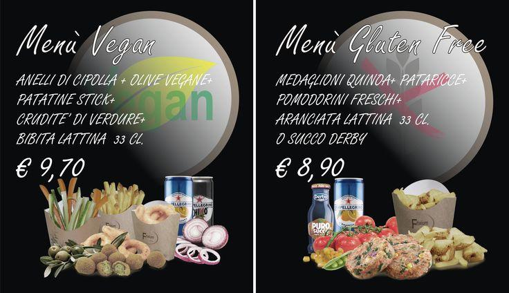 Menù Vegan - Menù Gluten Free  .. vieni a trovarci da Frixium Italia a Firenze