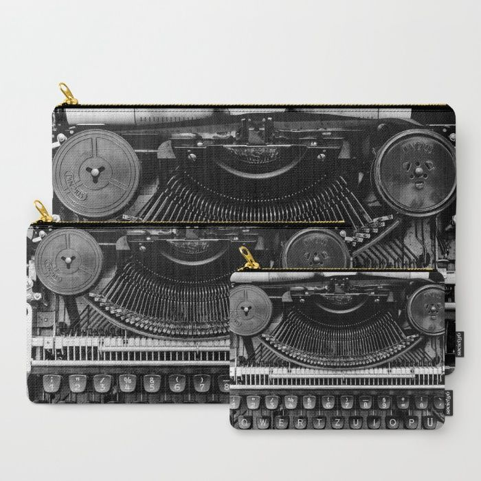 Typewriter Carry-All Pouch by Mixed Imagery | Society6