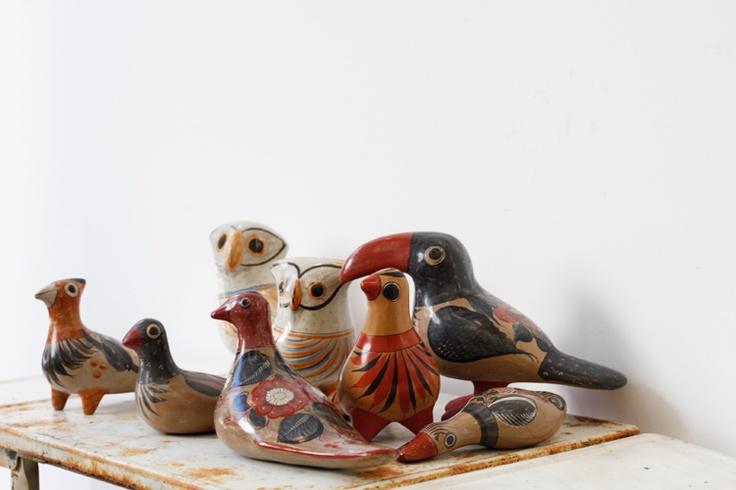 メキシコのTonaraで古くから作られている鳥のオブジェ。