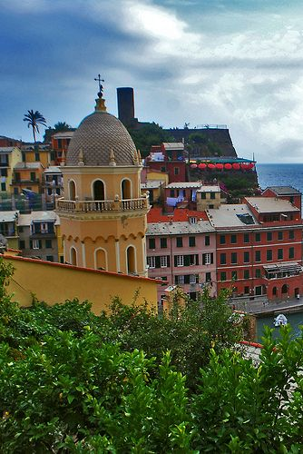 Colorful village of Vernazza located in Cinque Terre, Liguria, Italy