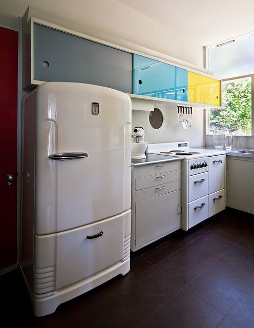 I could see those fun cabinets in a laundry room.  (Rose Seidler House by Chimay Bleue, via Flickr)
