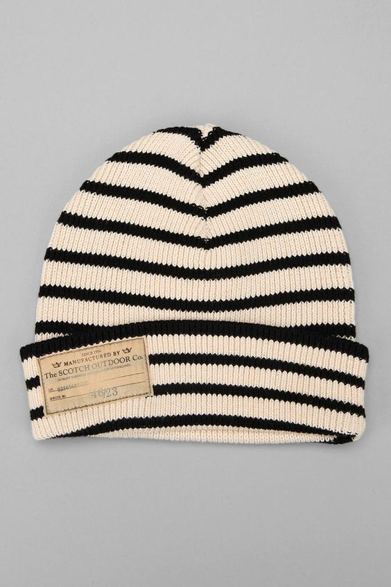 Cozy Up with this striped beanie by the Scotch Oudoor Clothing Co!