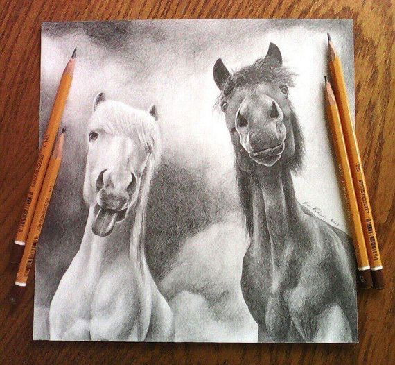 Hey, I found this really awesome Etsy listing at https://www.etsy.com/listing/493665526/funny-ponies-original-drawing-horse