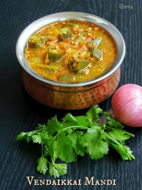 Priya's Versatile Recipes: Chettinad Vendakkai Mandi/Chettinad Ladies Finger Curry