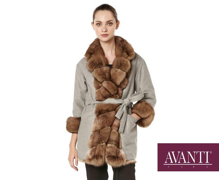 AVANTI FURS - MODEL: MARILIA SABLE JACKET Double Face with Cashmere and Leather details #avantifurs #fur #fashion #fox #luxury #musthave #мех #шуба #стиль #норка #зима #красота #мода #topfurexperts