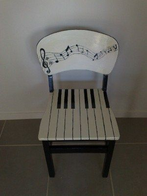 funky painted dining chairs | Musical chair painted by me ...