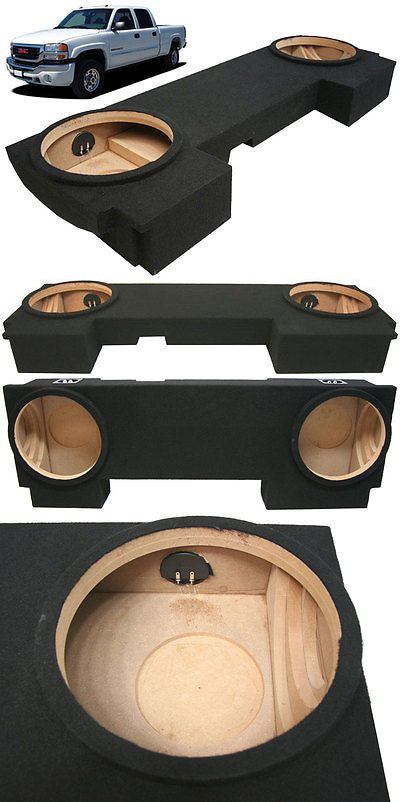 Speaker Sub Enclosures: 2001-2007 Gmc Sierra 2500Hd Crew Cab Truck Custom Dual 10 Subwoofer Sub Box New -> BUY IT NOW ONLY: $109.99 on eBay!