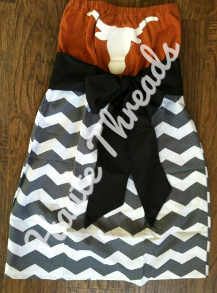I'd like this in a different team, but this is a cute game day dress!