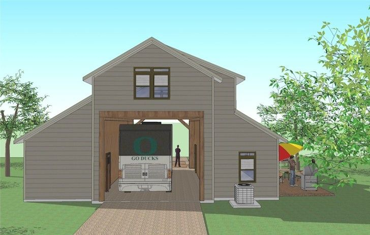 You 39 ll love this rv port home design it 39 s simply for Rv garage plans with living space