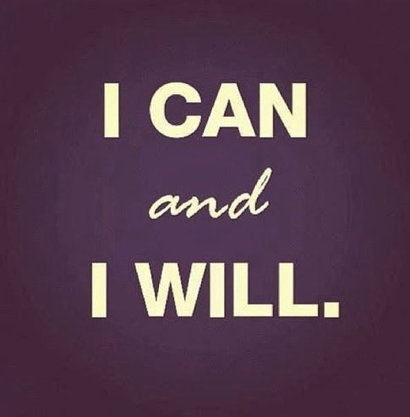 I Can and I Will Motivational Fitness Quote