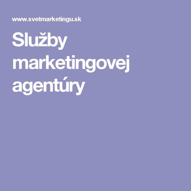 Služby marketingovej agentúry