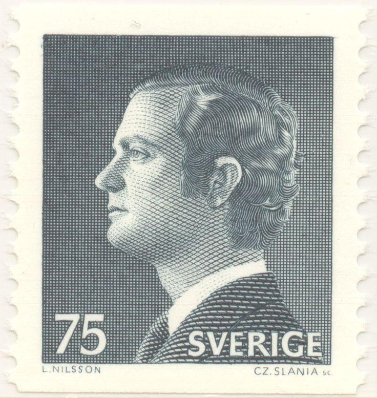 "Sweden 75ö ""His Majesty the King Carl XVI Gustav"" 1974. Czeslaw lania sc."