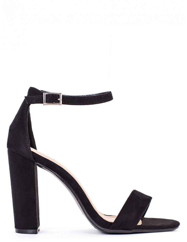 GET USED TO IT BLACK STRAPPY HEEL