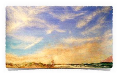 Blouberg: I used my Photo of Blouberg Beach as a reference to create this Acrylic Painting of Blouberg. This painting was created for my Nanna who always loved the ocean.