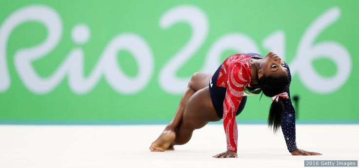 Simone Biles competes on the floor exercise during women's qualification for artistic gymnastics at the Rio 2016 Olympic Games at the Rio Olympic Arena on Aug. 7, 2016 in Rio de JaneiroThe Best Photos From Rio 2016: Aug. 7 Edition