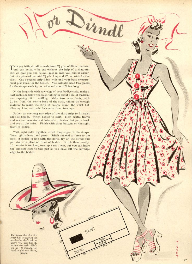 Free Vintage 50s Style Dress Sewing Pattern and Tutorial