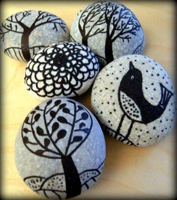 Painted stones: