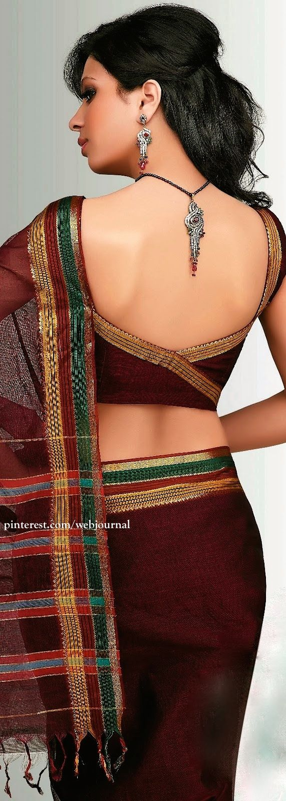 Lovely #Saree back, #Choli & #Handloom Weaves from Andhra Pradesh: cotton - https://www.facebook.com/cctextiles/info