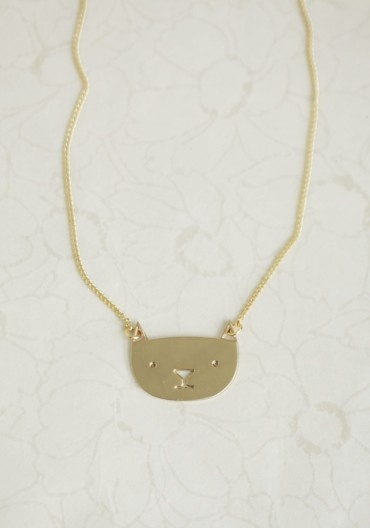Mimi The Cat Necklace By Timi | Modern Vintage Jewelry | Modern Vintage Accessories  #Timi #Necklace #Cat #Style #Accessories