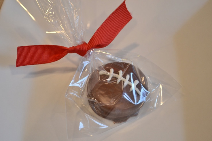 Chocolate Covered Oreo - Football Favor - Sports Favors. $1.45, via Etsy.