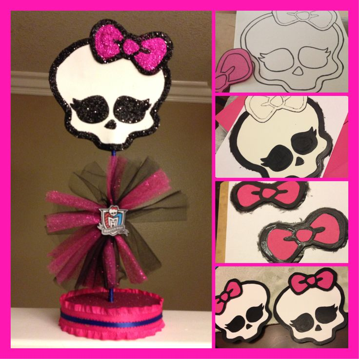 """Made some decorations for my little sister's """"Monster High"""" themed birthday party."""