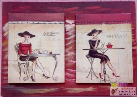 Csokoládék, és koktélok festmény kreáció kávéházba