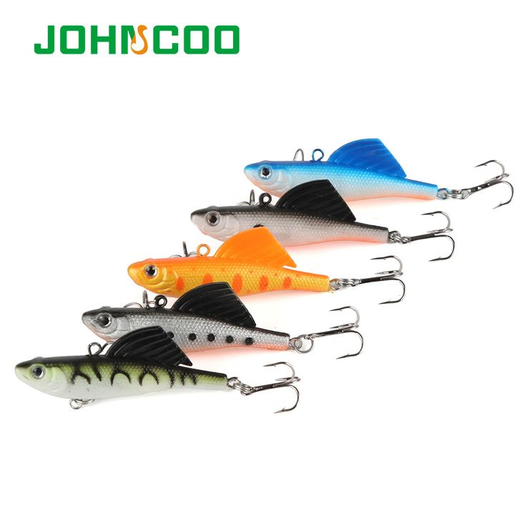 JOHNCOO New 5pcs Lead Fish Soft Fish Lure 6.5cm 16.4g Vib Ice Fishing Lure Wobber Pesca Artificial Bait Minnow Fishing Lure