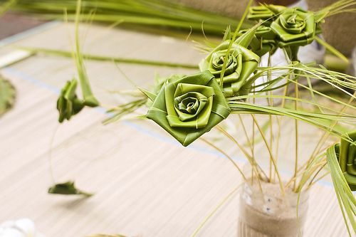 Easy coconut rose bouquet video tutorial rose palm Palm roses are one type of craft made out of palm leaves for Palm Sunday. Palm Sunday is ...