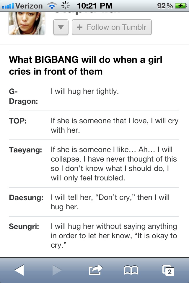 BIGBANG Which response do you like??? Please comment Below!! :)